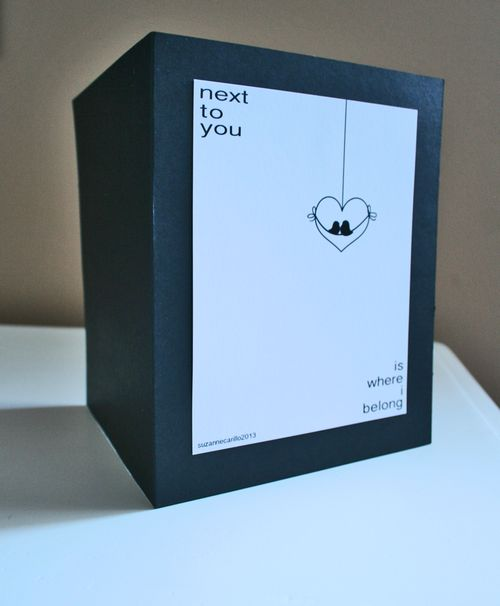 Next to you valentine card