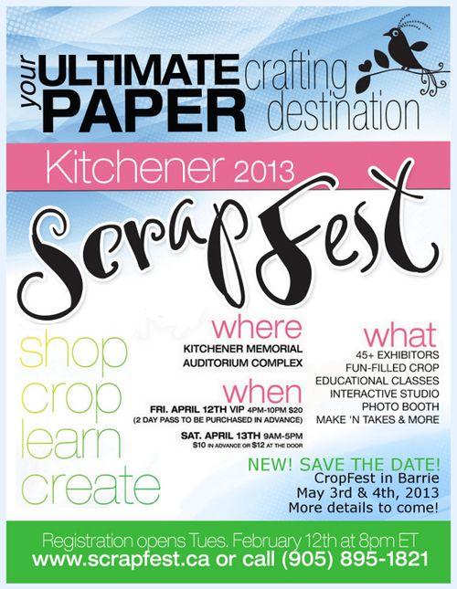 ScrapFest 2013 Kitchener Ontario