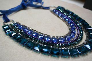 Purple green blue jewel necklace suzanne carillo