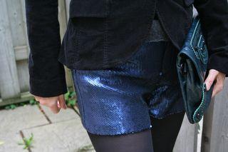 Sequin shorts 2
