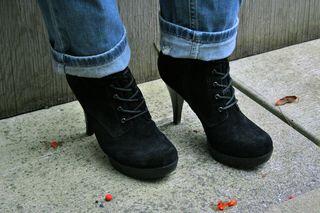 Black suede guess booties