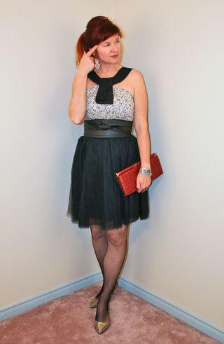 Black tulle skirt anthropologie top