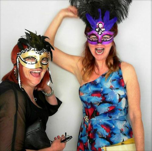 Masked party girls