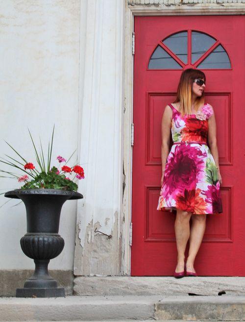 Floral dress geraniums