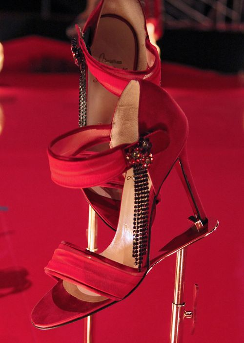 Red louboutain sandals