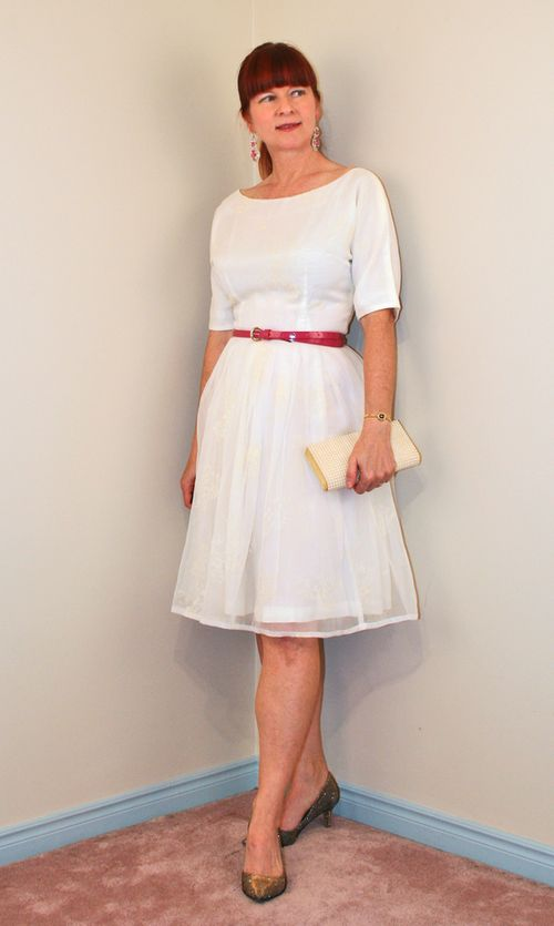 Vintage 1950 fit and flare dress