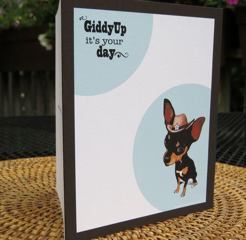 Chihauhua birthday card