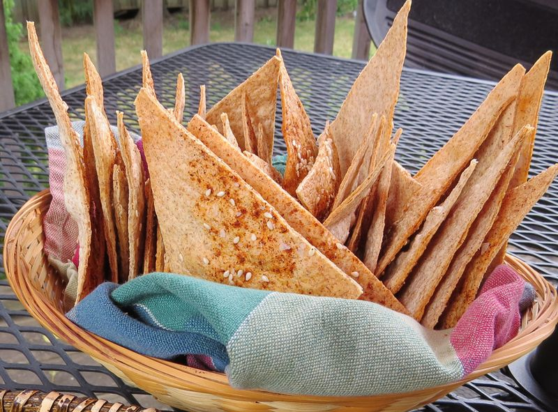 Homemade spicey wrap chips