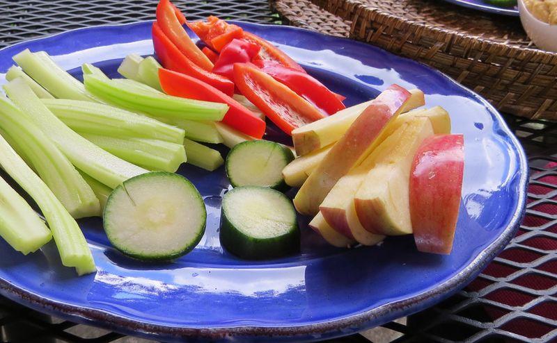 Plate of veggies