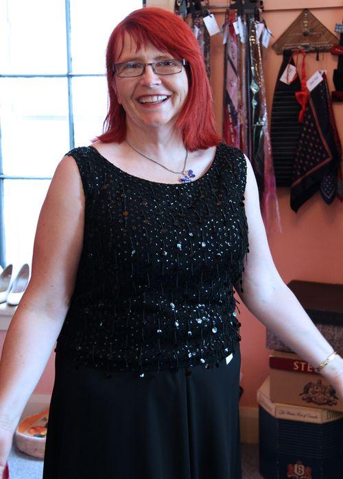 Hazel black sparkle top