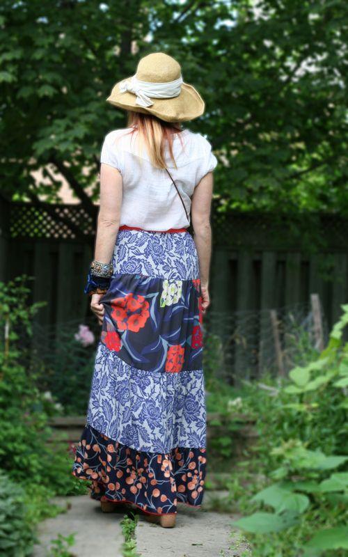 Back of maxi skirt anthropologie