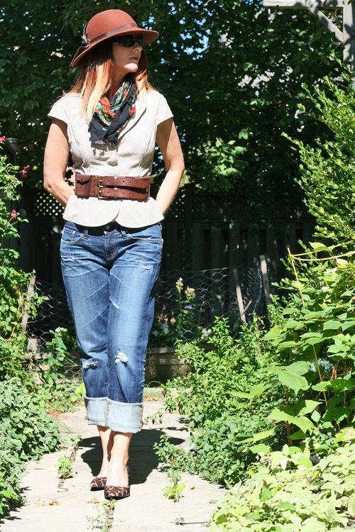 Ag jeans guess vest thrifted belt