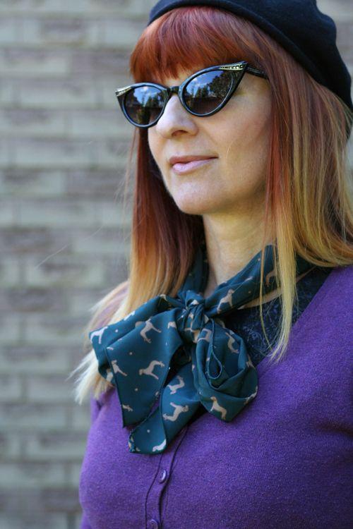 Blue dog scarf