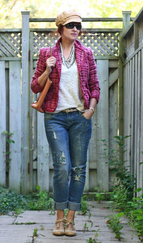 Pink chanel tweed jacket