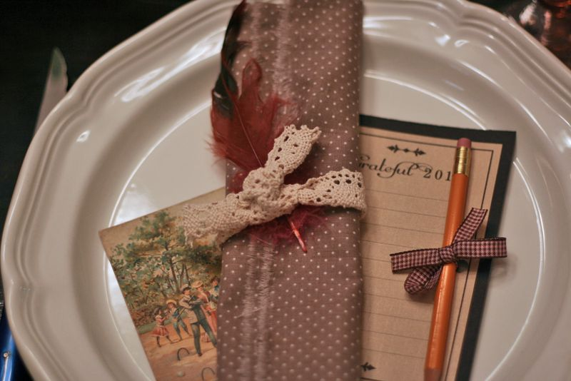 Grateful list thanksgiving