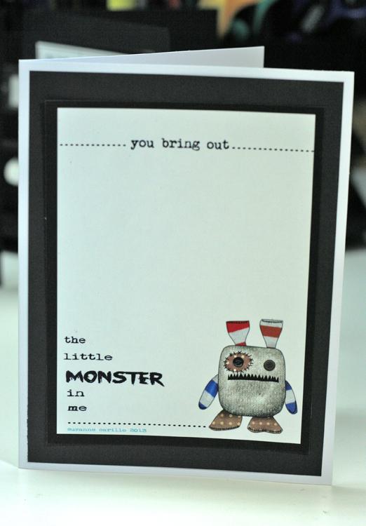 Monster in me halloween card 2