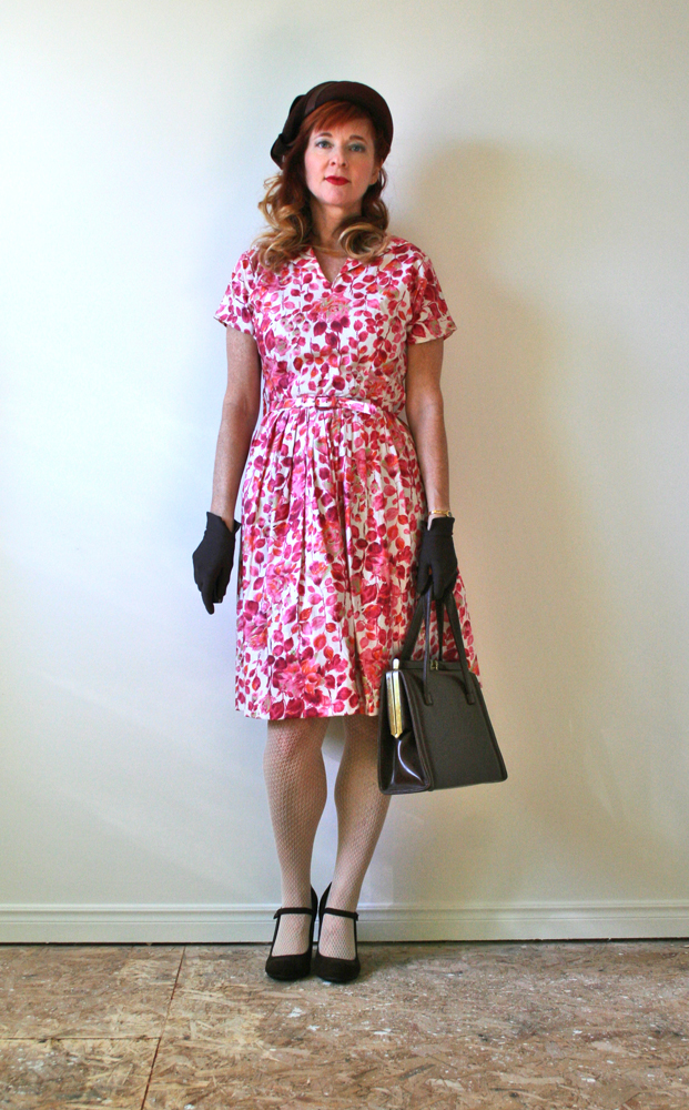 Pink 1950s day dress_small