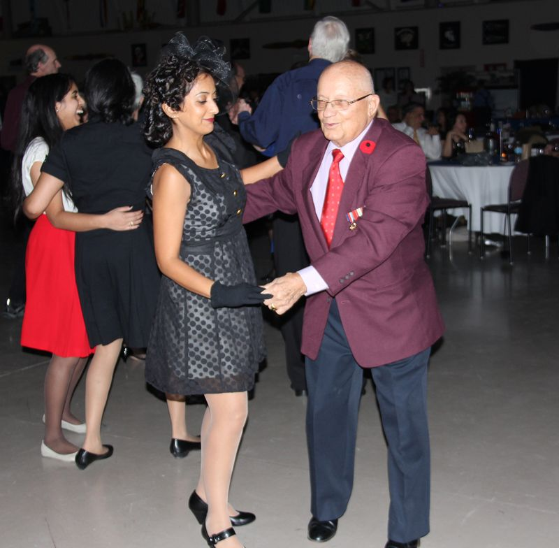 Cute couple swing dancing