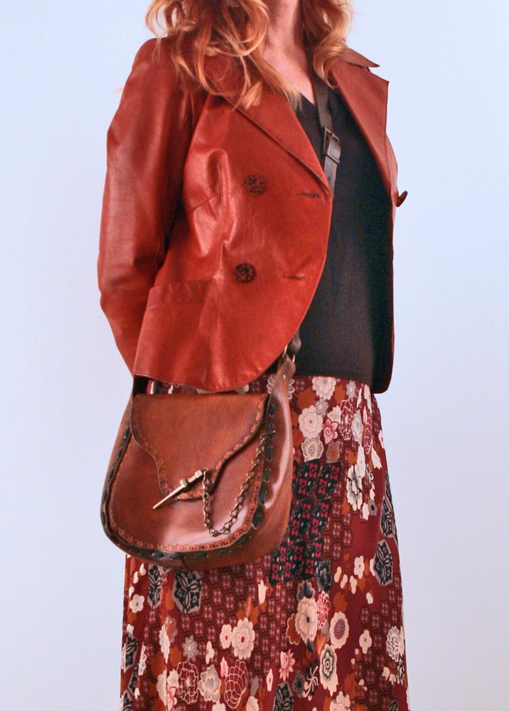 Rust Danier leather jacket