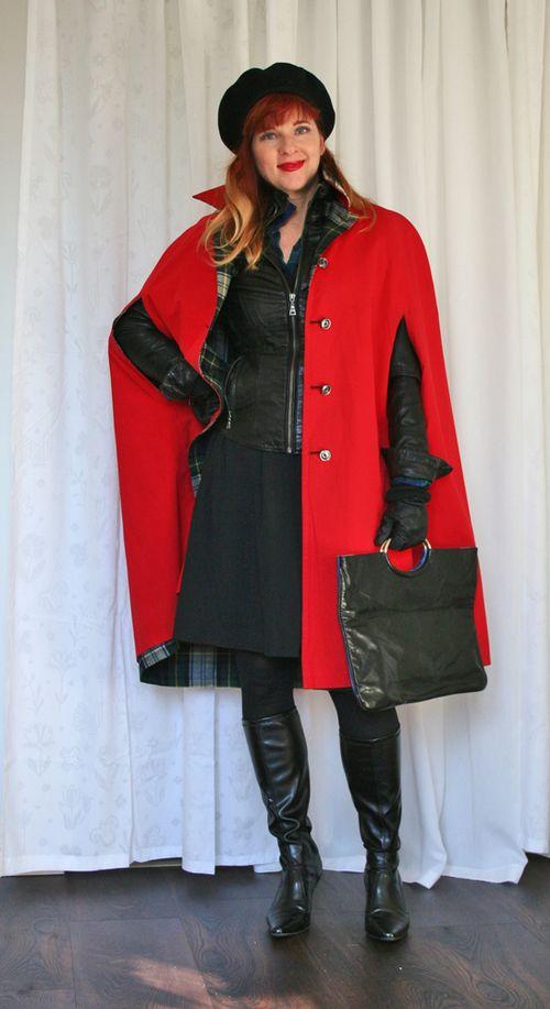 1960's vintage red cape