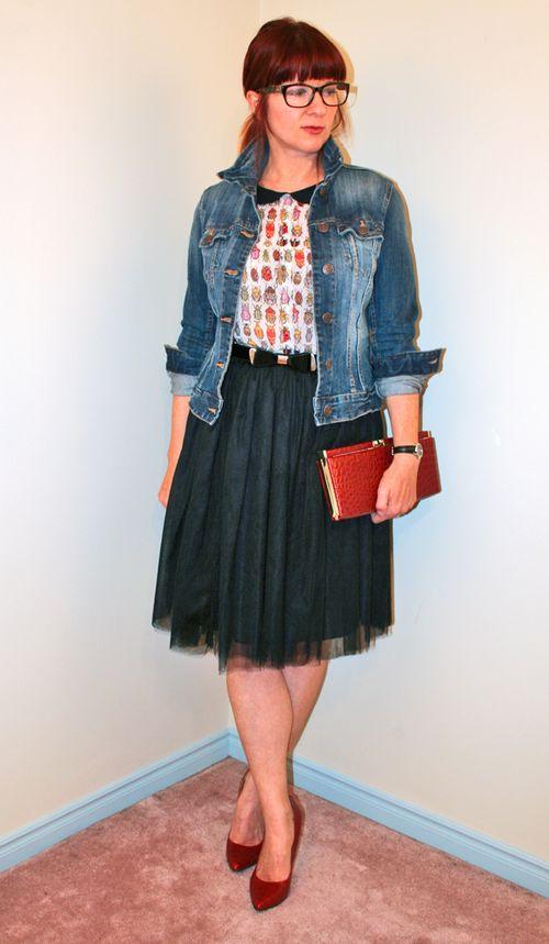 Black tulle skirt top five