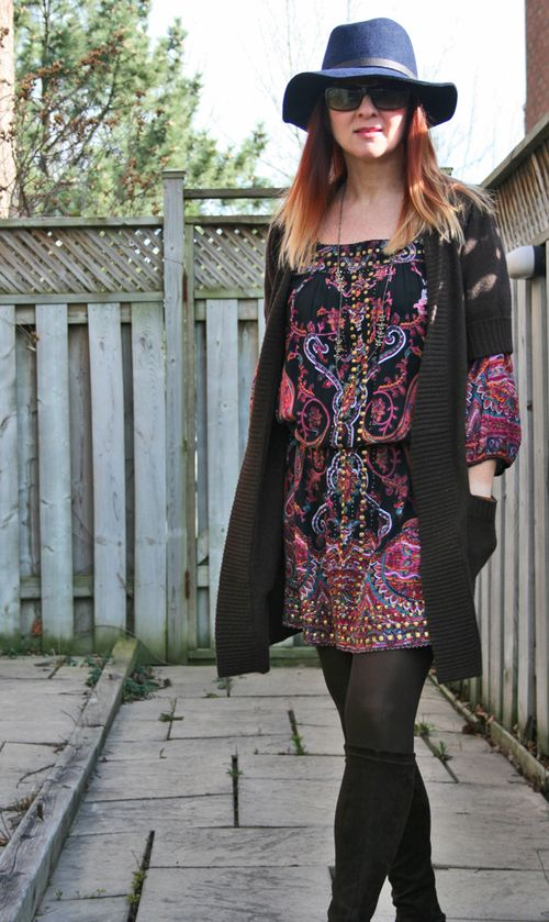Boho dress consignment store buy