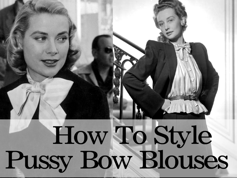 How to style pussy bow blouses