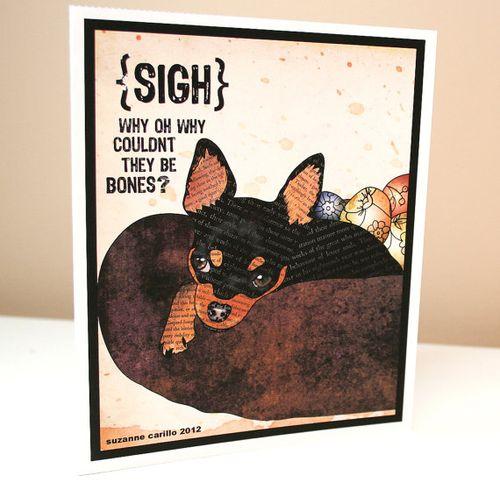 Cute dog easter card