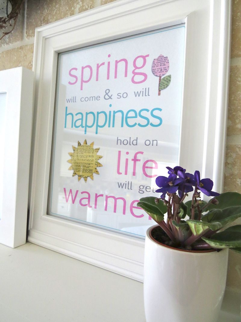 Spring will come life with get warmer