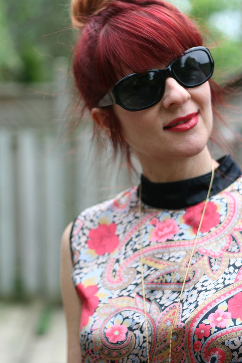 Red hair thrift paisley blouse suzanne carillo style files