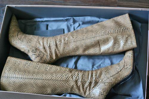Miu miu snakeskin boots size 7 in box suzanne carillo style files
