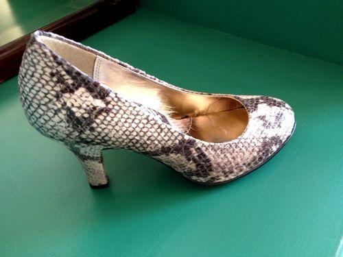 Snake skin heels