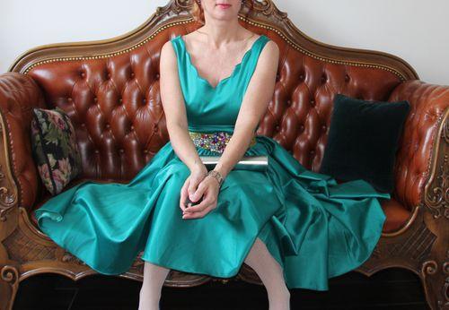 Circle skirt dress suzanne carillo