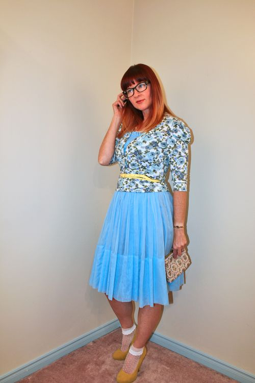 1950's vintage dress styled contemporary