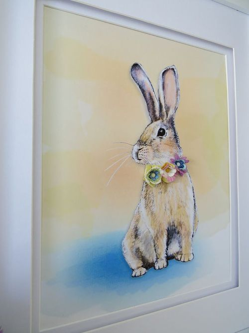 Handdrawn easter bunny