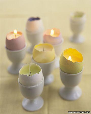 Easter egg votives