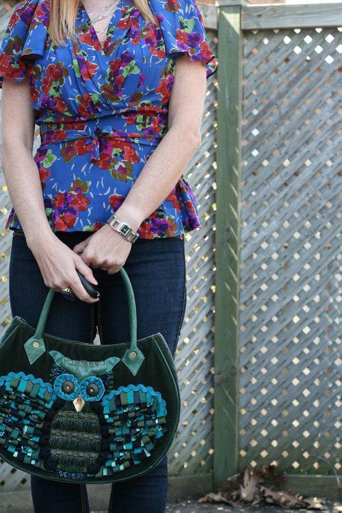 Anthropologie owl handbag