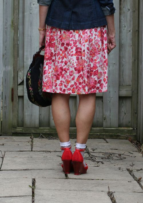 Red miss L Fire wedge shoes Anthropologie