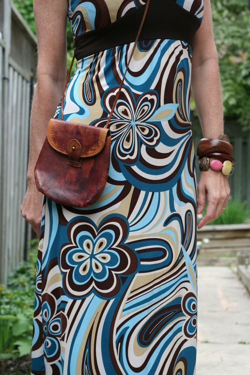 Vintage leather cross body bag boho style floral maxi dress suzanne carillo style files