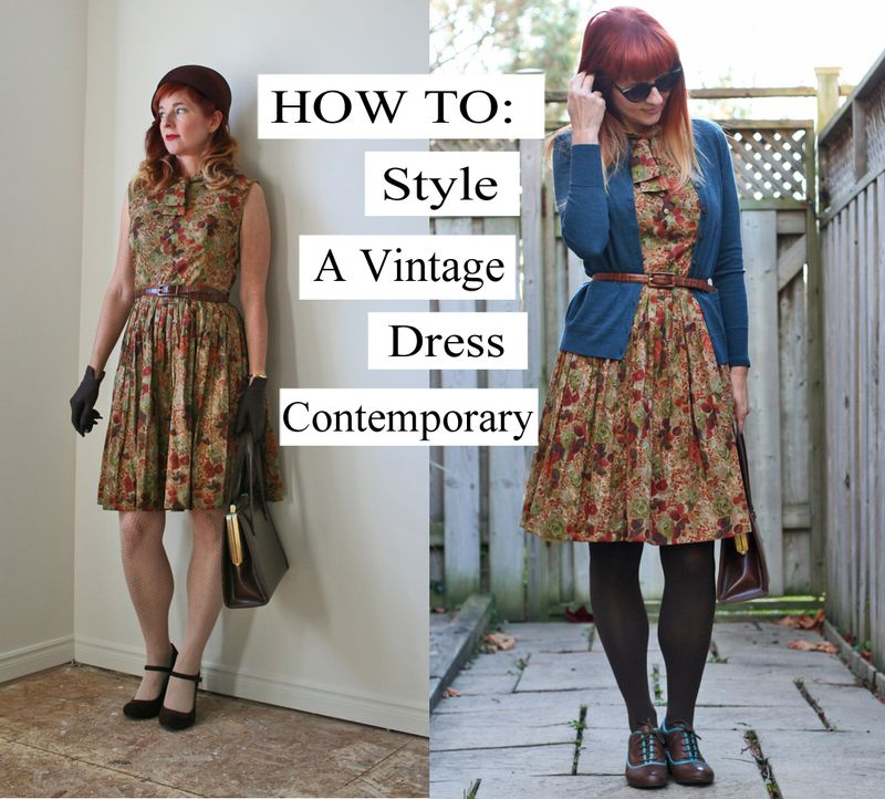 Hot to wear vintage dresses