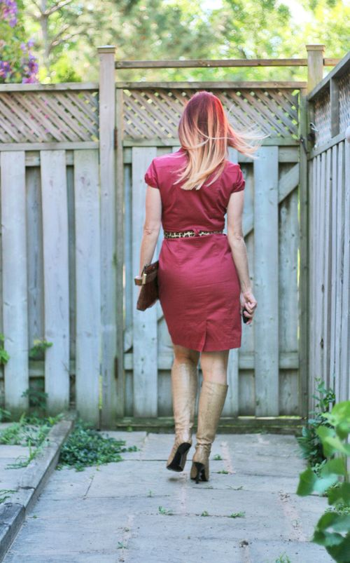 Miu miu snake skin boots H&M dress suzanne carillo style files ombre blond red hair