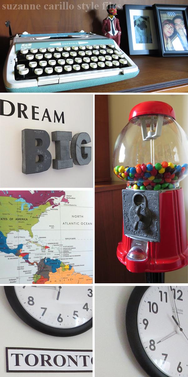 Men's home office decorating ideas retro style suzanne carillo style files