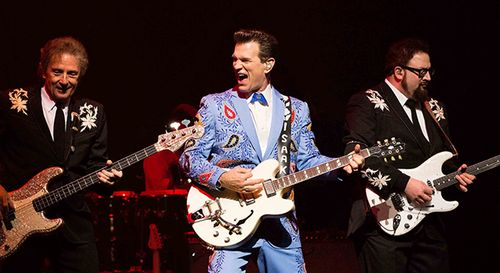 Chris issak blue suit