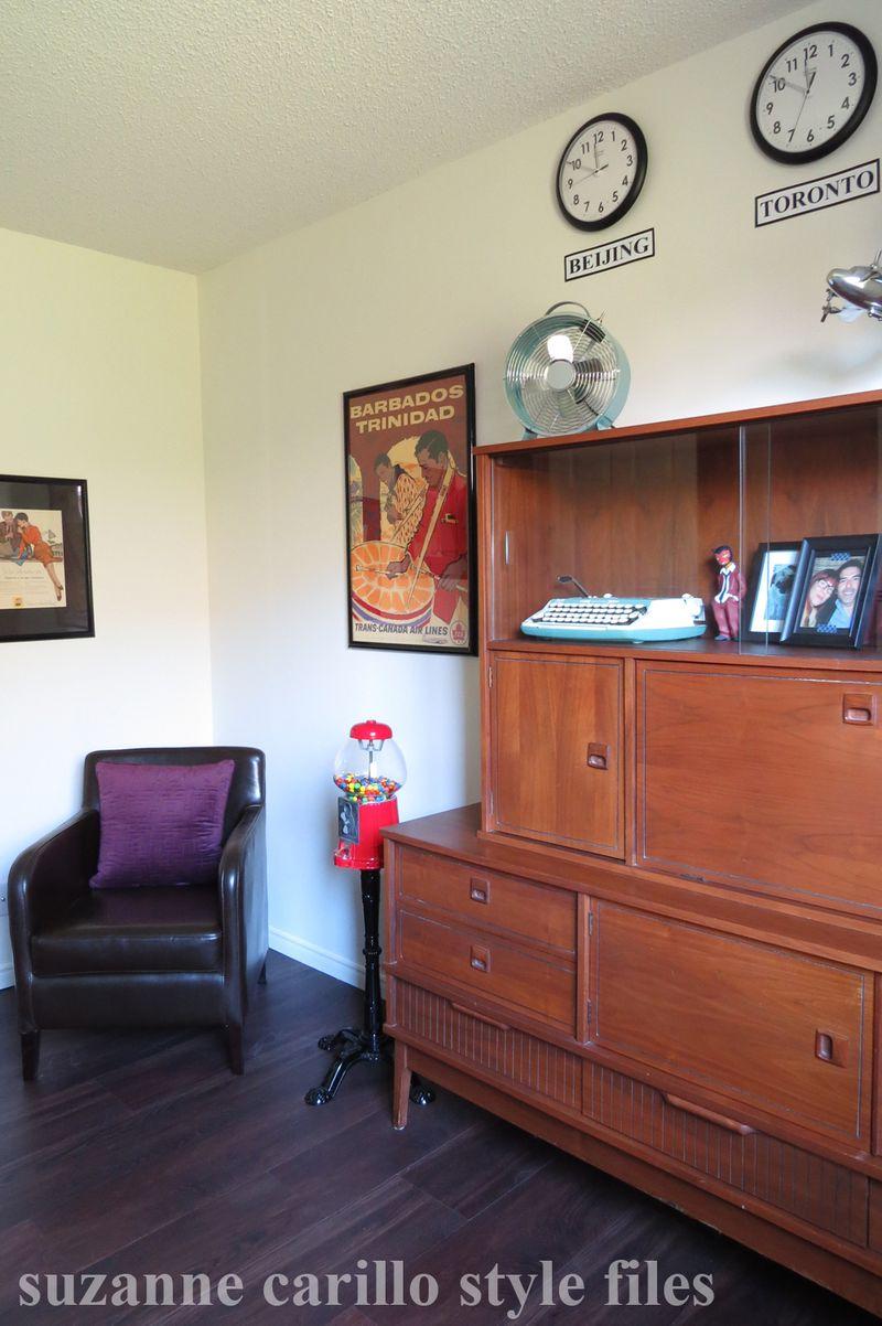 Men's home office retro decorating ideas suzanne carillo style files
