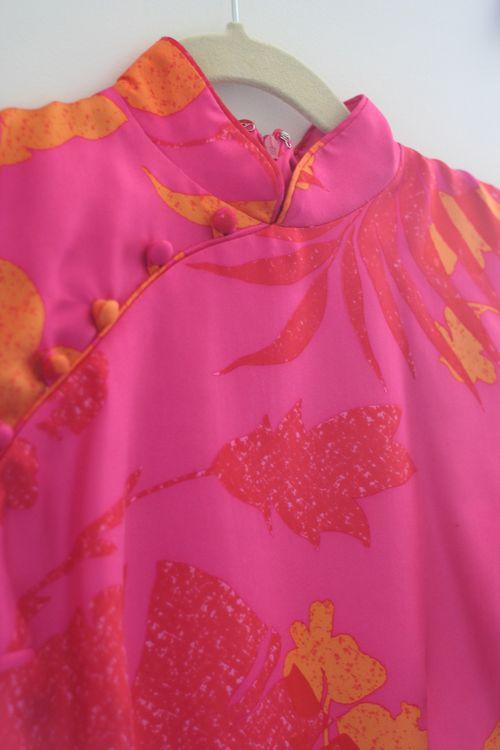 Asian collar silk dress suzanne carillo style files