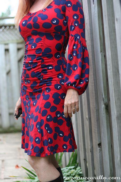 Nanette lapore cherry dress suzanne carillo how to wear red