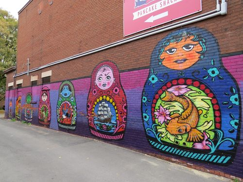 Russian dolls alley street art ottawa suzanne carillo